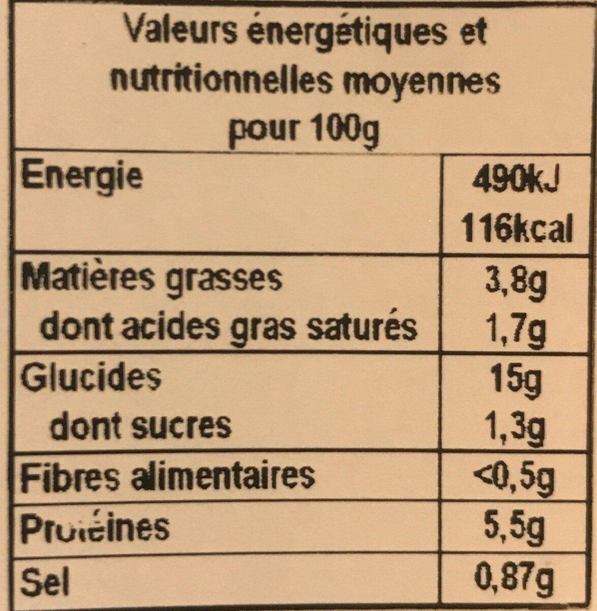 Colombo de porc et riz basmati - Informations nutritionnelles - fr