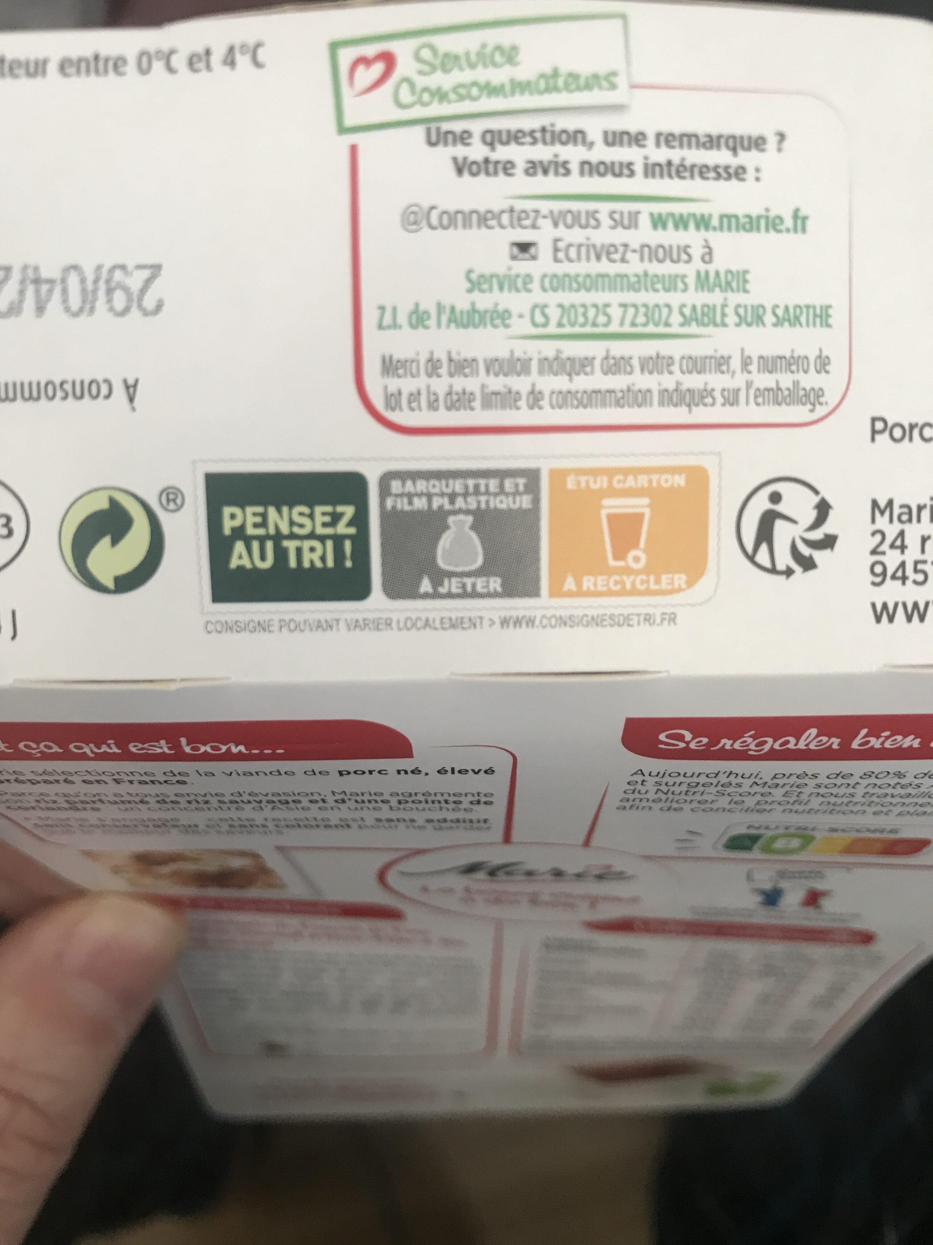 Porc au caramel - Instruction de recyclage et/ou informations d'emballage - fr