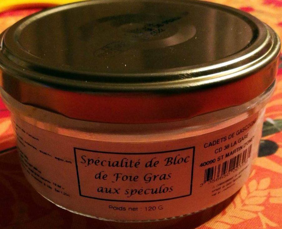 Spécialité de Bloc de Foie Gras aux Spéculoos - Product