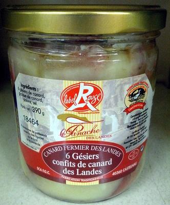 6 Gésiers confits de canard des Landes - Produit - fr