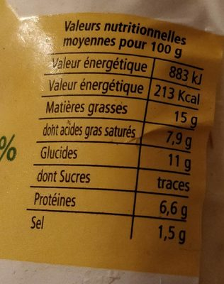 Quenelles de Carpe des Dombes 20% au beurre - Nutrition facts