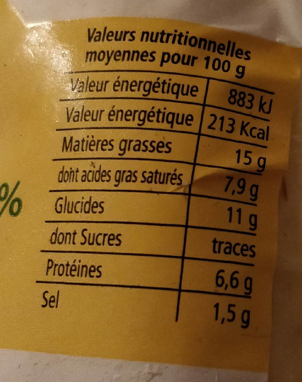 Quenelles de Carpe des Dombes 20% au beurre - Nutrition facts - fr