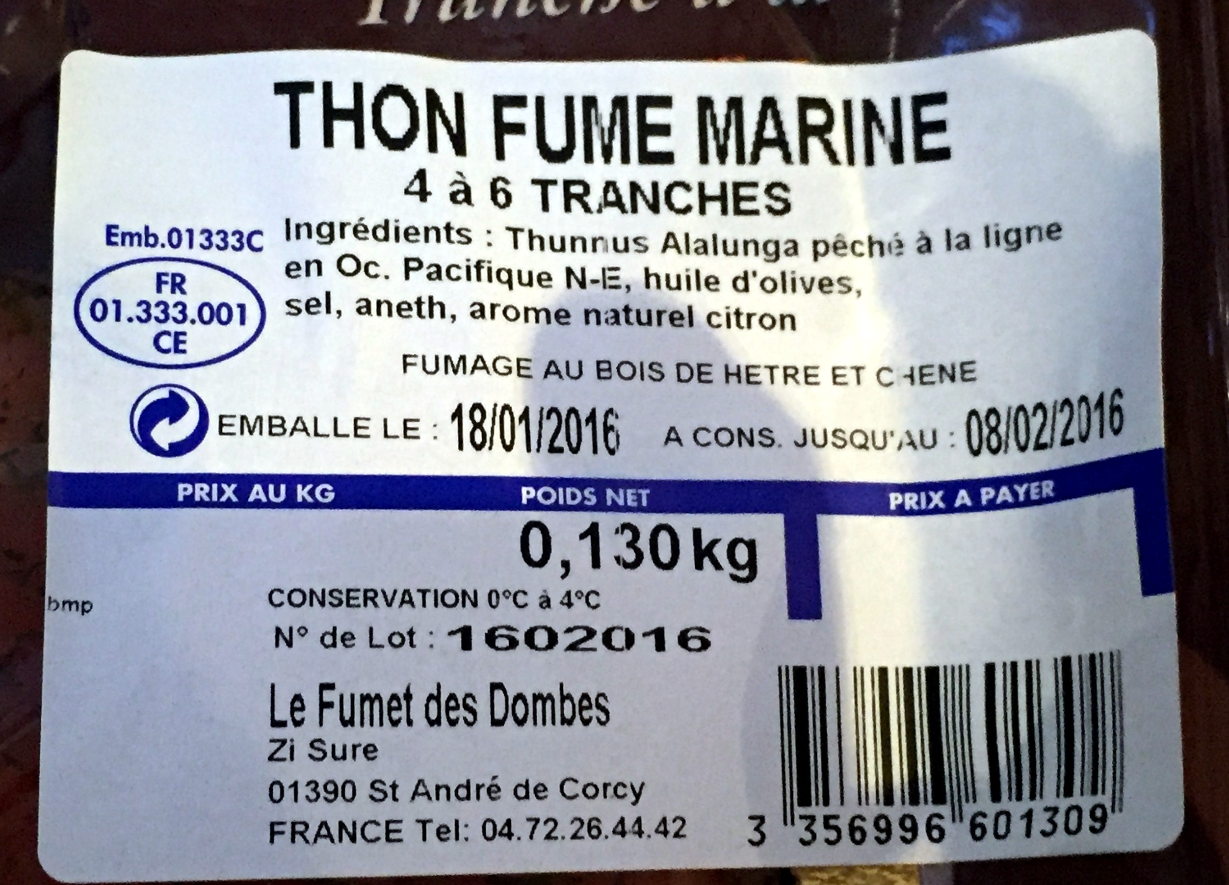 Thon fumé mariné - Ingredients - fr