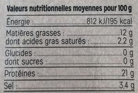 Saumon Fumé d'Écosse Bio - Nutrition facts