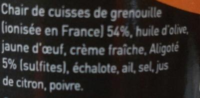 Rillettes cuisses de grenouille à l'aligoté - Ingrédients - fr