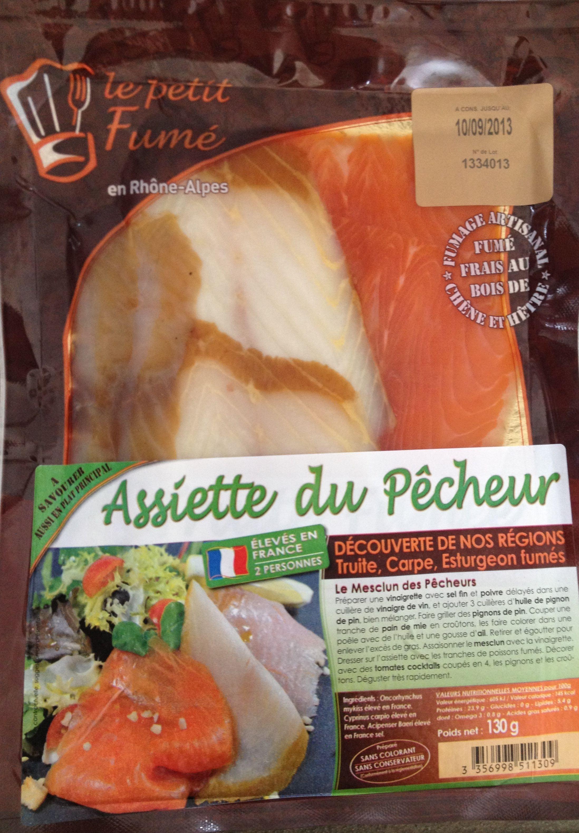 Assiette du Pêcheur Carpe Esturgeon Truite Fumés - Product