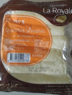 Quenelles lyonnaises de volaille - Product - fr
