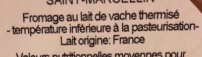 Saint-Marcellin - Ingrédients - fr