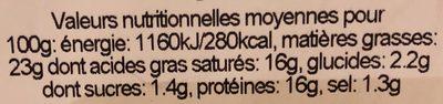 Saint-Marcellin - Informations nutritionnelles - fr