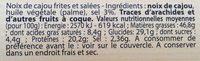 Noix de Cajou - Voedingswaarden