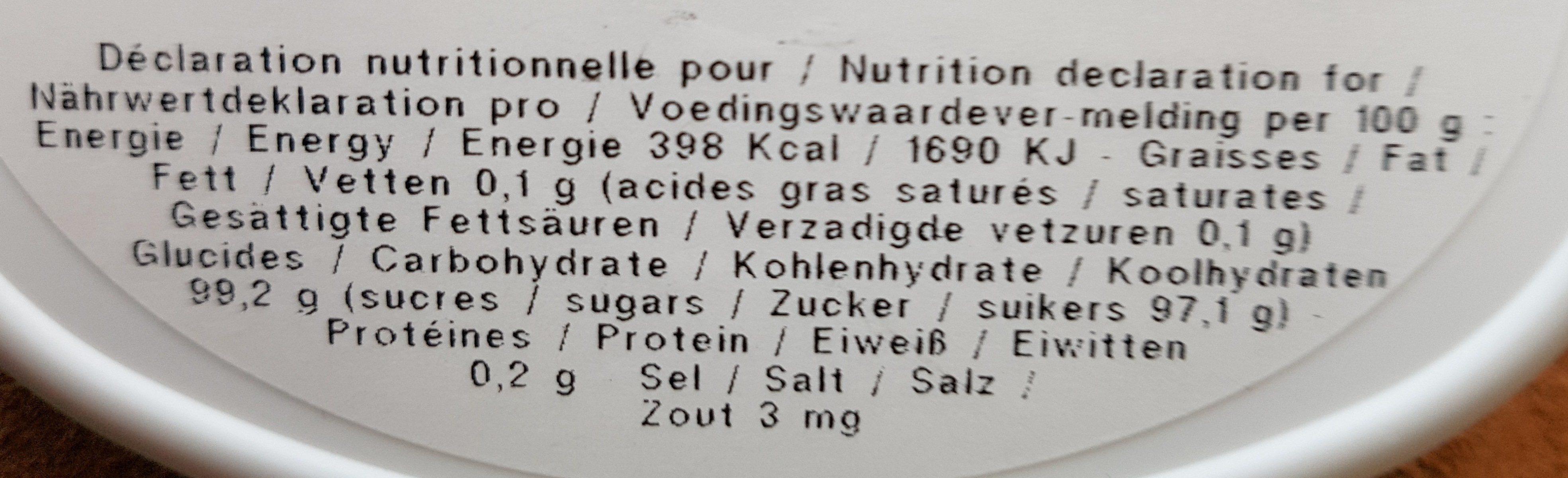 Les Anis de Flavigny Menthe - Ingredients