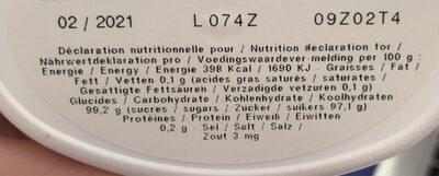 Anis de Flavigny à la rose - Nutrition facts - fr