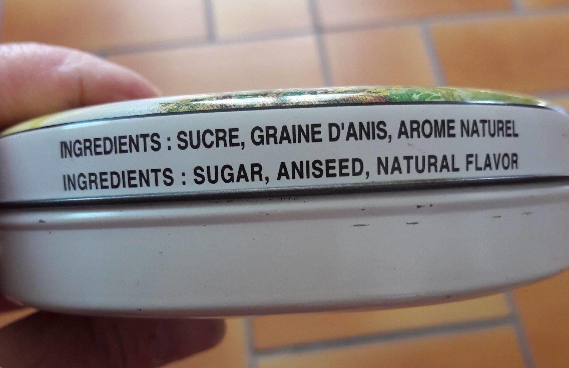 Boîte Ronde 250 g - Nutrition facts - fr