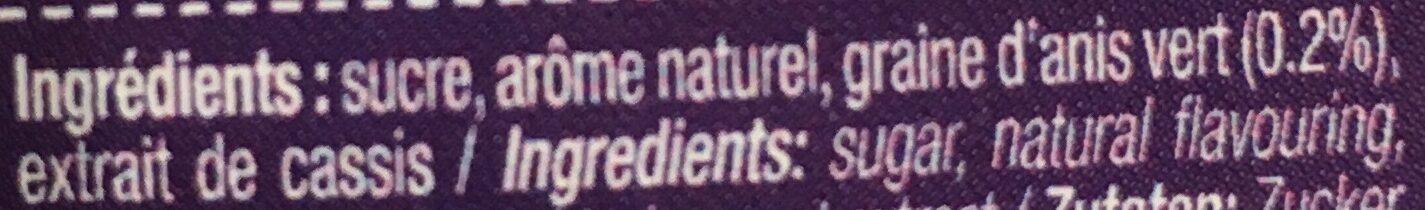Sac 250 g Cassis - Ingredients - fr