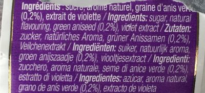 Sac 250 g Violette - Ingredients - fr