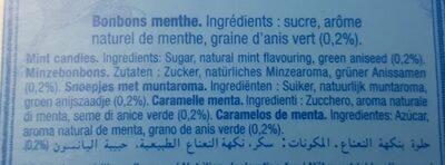 Anis de Flavigny Menthe - Ingredients - fr