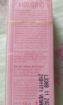 Un petit bonbon à la rose - Nutrition facts - fr