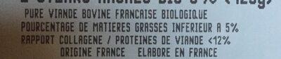 2 Steaks Haches Bio 5% - Ingredients - fr