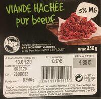Viande hachée pur boeuf - Voedingswaarden