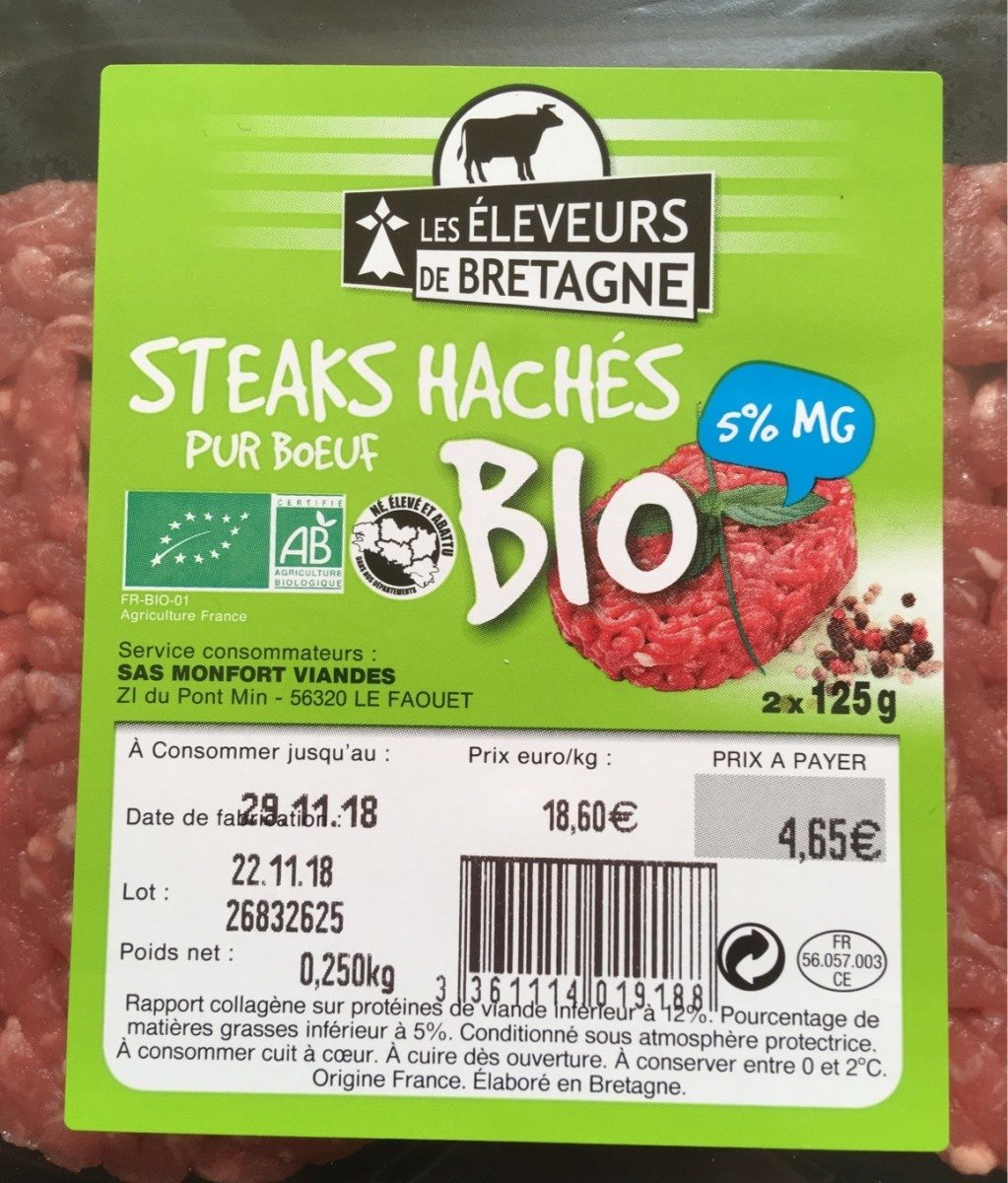 Steaks haches pur boeuf bio - Product