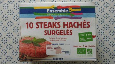 10 steaks hachés surgelés pur boeuf - Product
