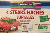 4 steaks hachés surgelés - Product - fr
