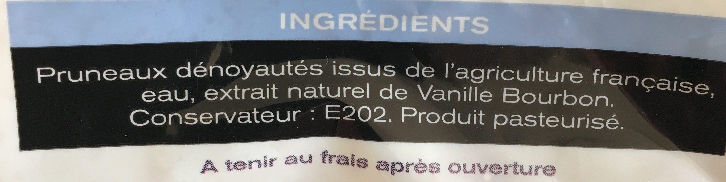 Pruneaux denoyautés - Ingrediënten