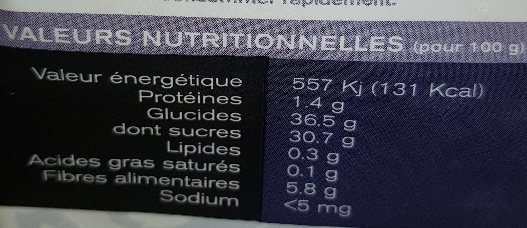 Pruneaux dénoyautés - Voedingswaarden - fr