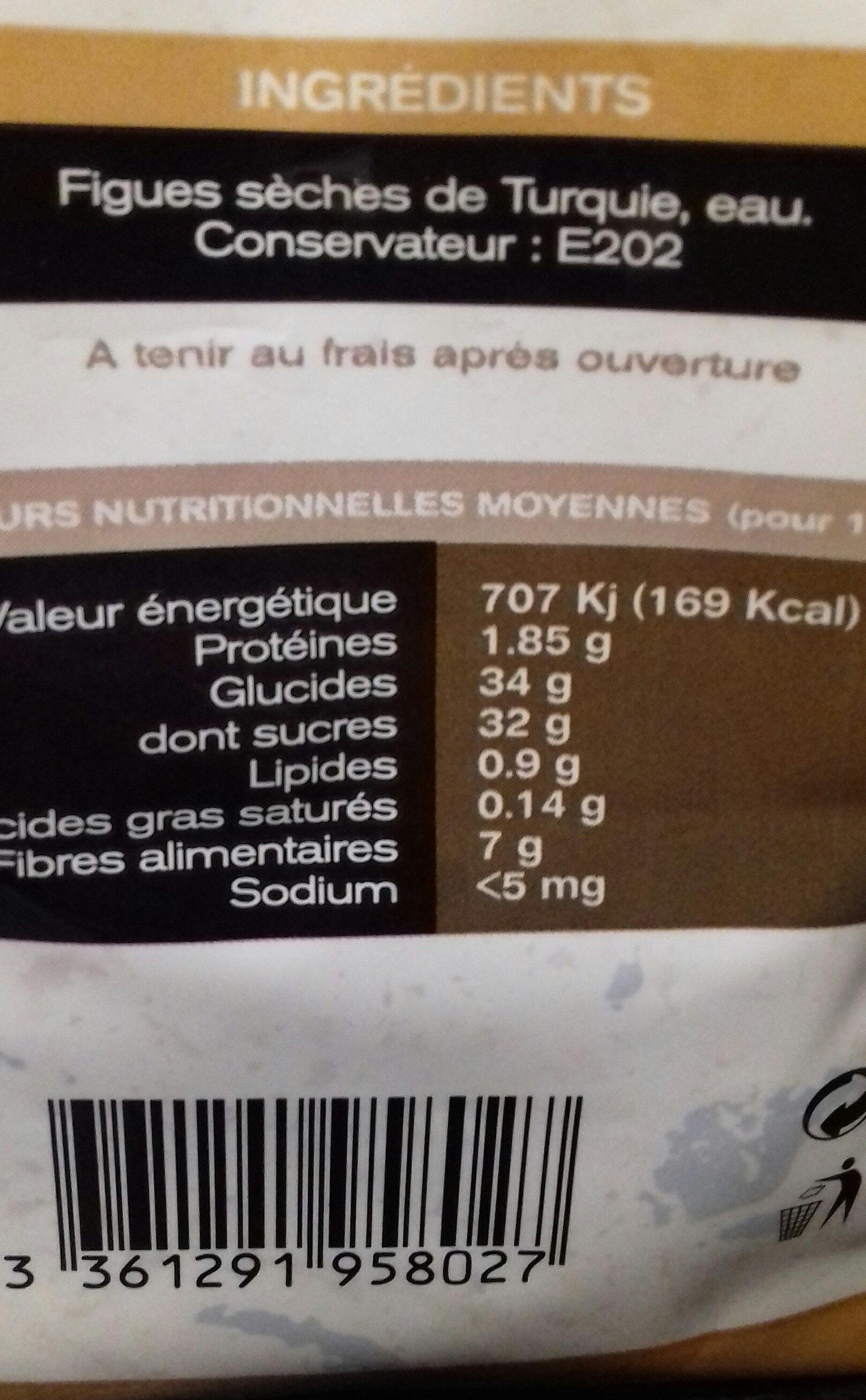 Figues De Montagnes - Voedingswaarden - fr