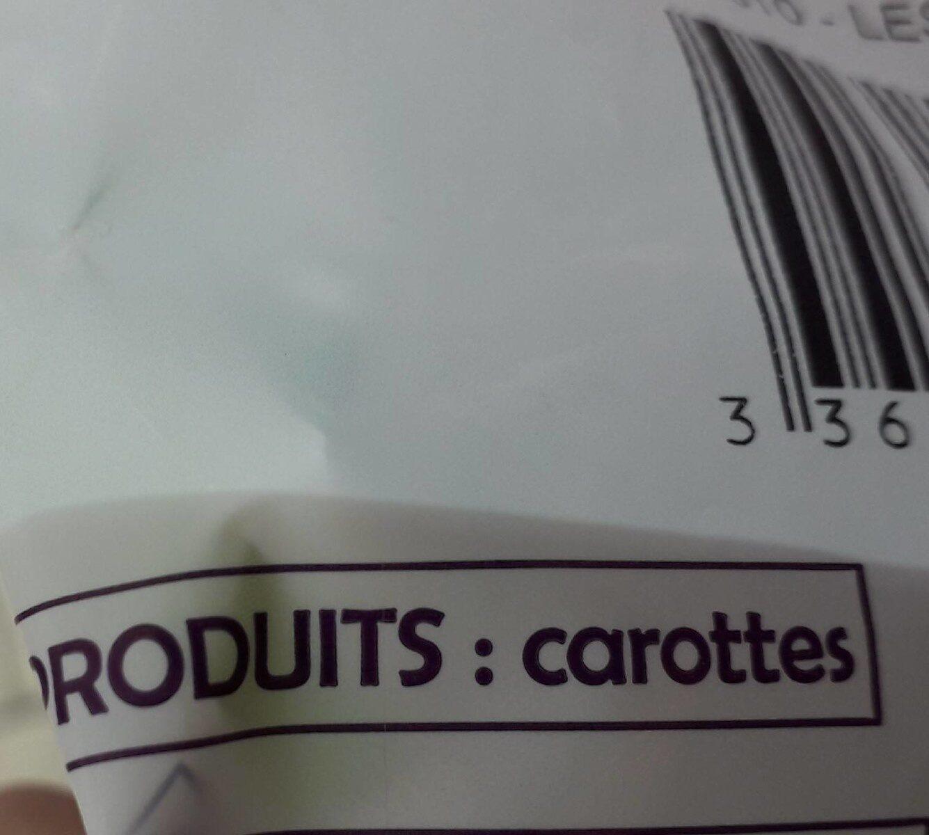 Carottes bio - Ingredients - fr