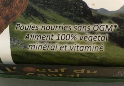 L'oeuf du Cantal - Ingrédients - fr