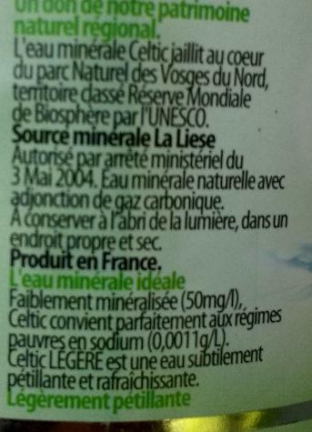Eau Minérale Naturelle Légère - Ingrédients - fr