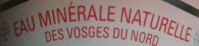 Eau Minerale Naturelle Des Vosges Du Nord - Ingrédients