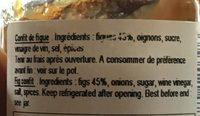 Figues violette de Sollies - Ingrediënten - fr