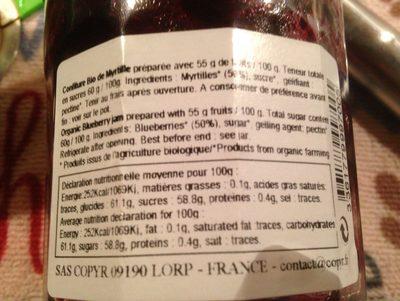 Confiture Extra Myrtille - Ingredienti - fr
