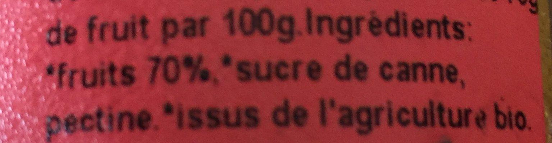 Confiture biologique allegee en sucres - Inhaltsstoffe - fr