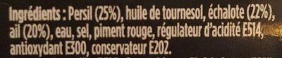 Persillade - Ingrédients - fr
