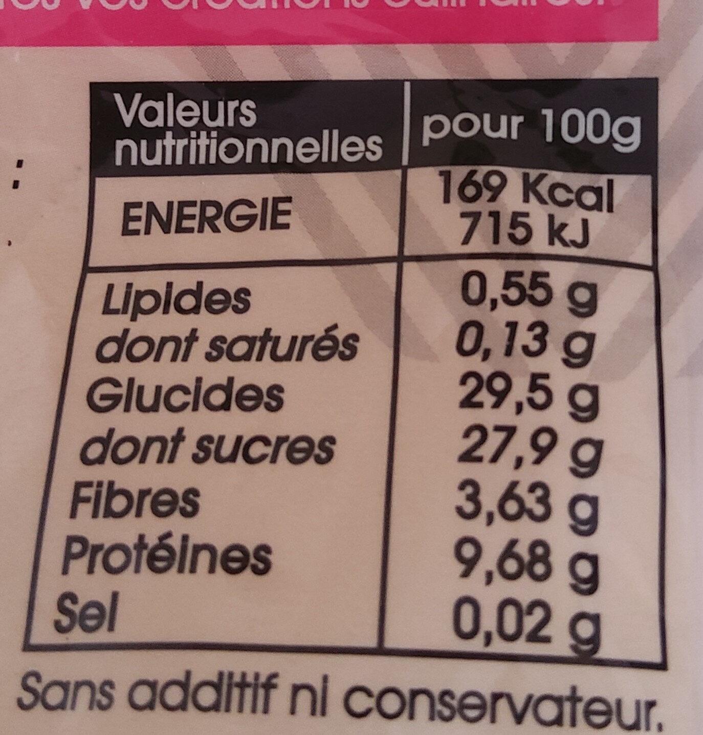 Ail noir - Nutrition facts