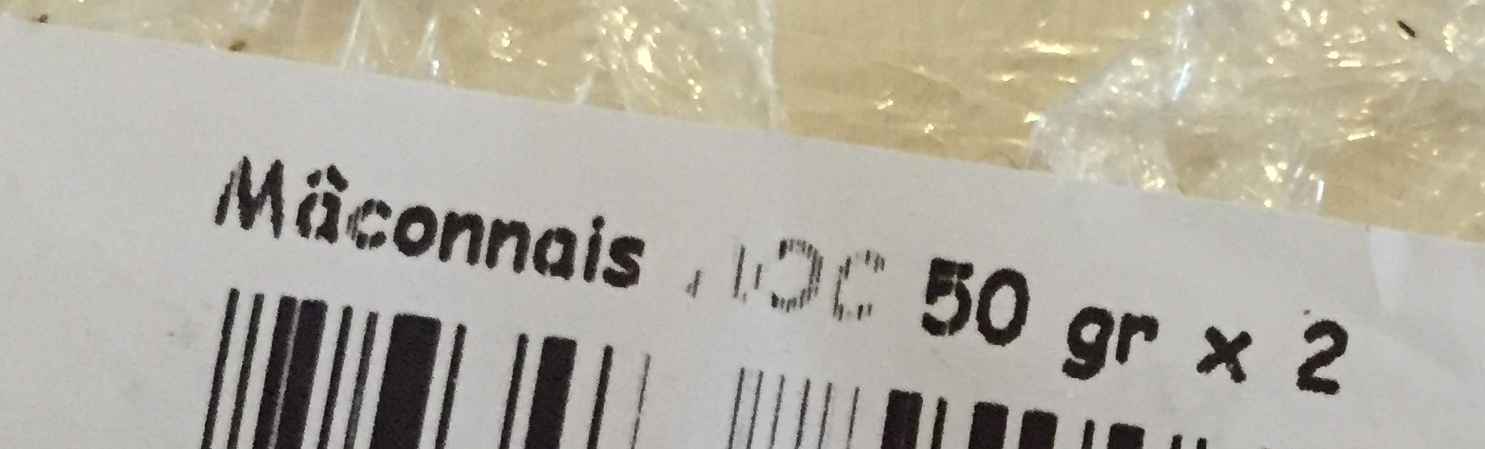 Mâconnais au lait cru - Ingrediënten