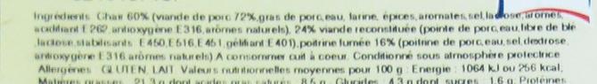 9 paupiettes de porc - Ingrédients - fr