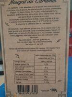Nougat au Caramel - Voedingswaarden - fr
