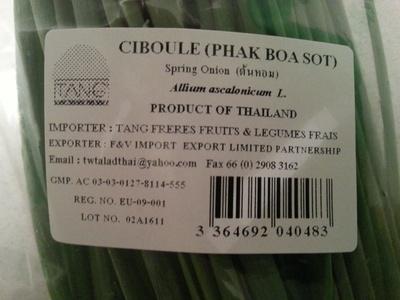 Ciboule (Phaak Boa Sot) - Produit - fr
