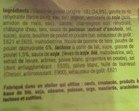 Nems au Poulet - Ingredients