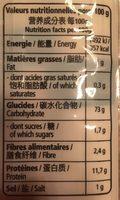 Henan noodles - Voedigswaarden