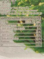Salade d'algues wakame congelé avec sucre et édulcorants m - Informations nutritionnelles