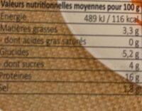 Salade d'encornet assaisonnée - Nutrition facts