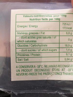 Raviolis Aux Crevettes Ha Cao - Ingredients