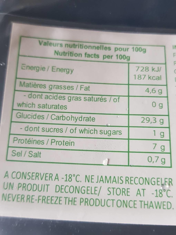 Nems Aux Crevettes Et Crabe - Voedingswaarden - fr