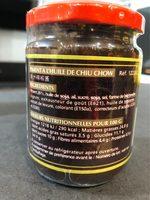 Piment de l'Huile de Chiu Chow - Voedingswaarden - fr