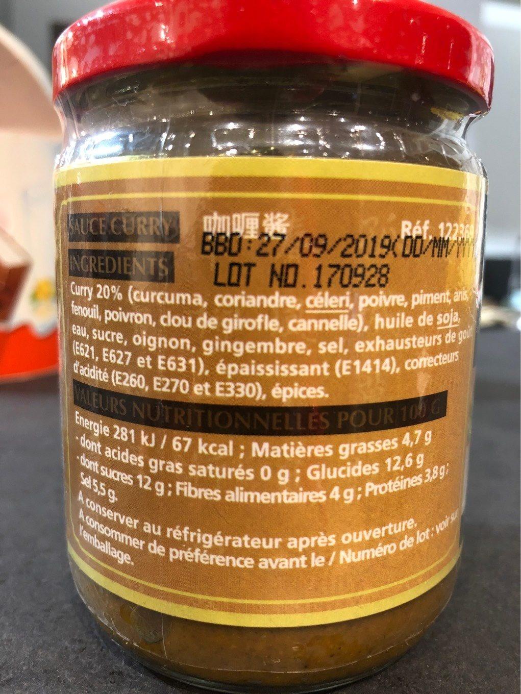 Sauce Curry - Voedingswaarden - fr